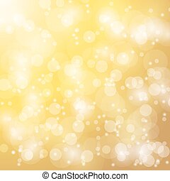Vector abstract bokeh blur gold background. Festive...