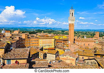 HDR Piazza del Campo in Siena - High dynamic range (HDR)...