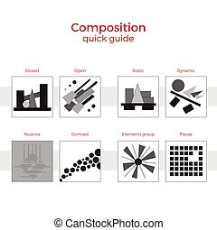 Composition quick guide vector illustration - Quick guide to...