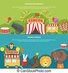 Circus entertainment horizontal banner - Circus...