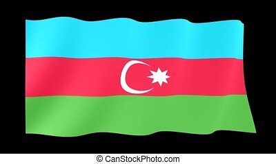 Azerbaijan flag - Flag animation Background deleted with...