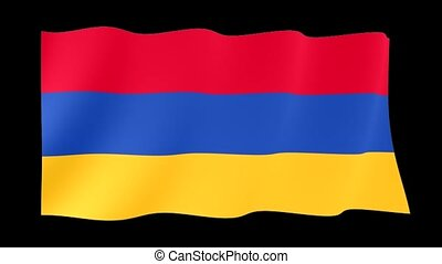 Armenian flag . Waving - Flag animation Useful for editors....