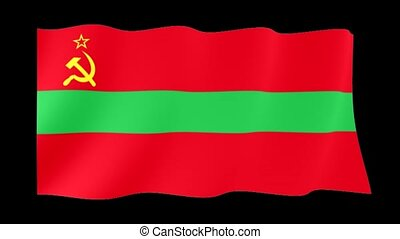 Flag of Transnistria. Waving flag c - Flag animation for...