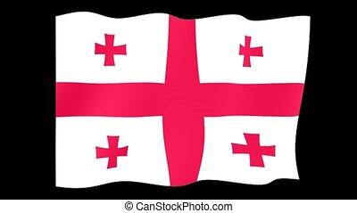 Georgian flag . Waving - Flag animation Useful for editors....