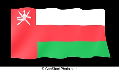 Flag of Oman. Waving flag