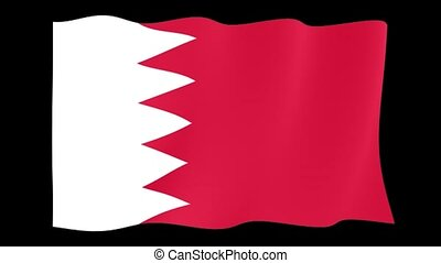 Bahrain flag . Waving - Flag animation Useful for editors....
