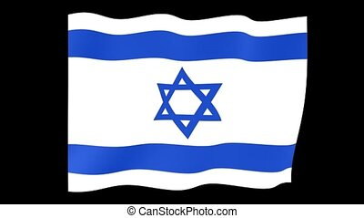 Israeli flag . Waving . - Flag animation for using in foto's...