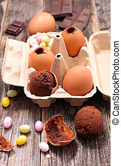 chocolate egg for easter day