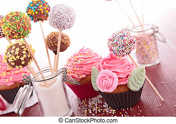 cake pops and cupcake