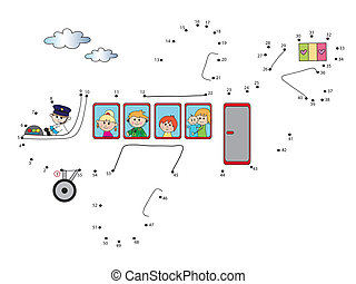 game for children - Game for children : join the dots...