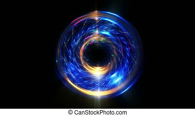 Blue abstract beautiful motion sphere background - Blue and...