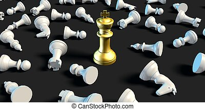 Last Man Standing Business Chess Strategy Business Concept