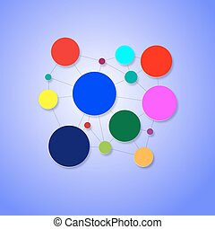 Circular dependent and colored background