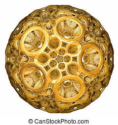 golden hyperbolic tesselation computer generated
