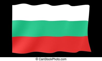 Bulgarian flag. Waving - Flag animation Useful for editors....