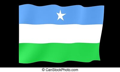 Flag of Puntland. Waving flag - Flag animation Background...