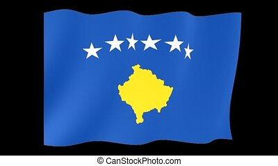 Flag of Kosovo. Waving flag - Flag animation Useful for...