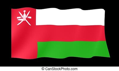 Omani flag . Waving PNG. - Flag animation for using in...