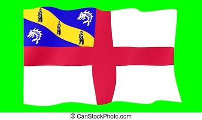 Flag of Herm. Waving flag - Flag animation for using in...