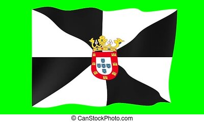 Flag of Ceuta. Waving flag (PNG) computer animatie. - Flag...