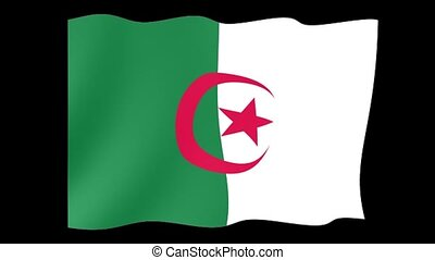 Algerian flag . Waving PNG. - Flag animation for using in...
