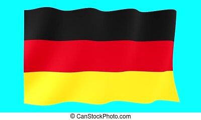 German flag . Waving
