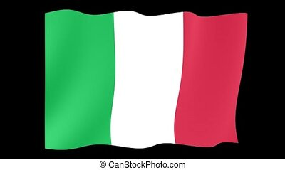 Italian flag . Waving . - Flag animation for using in foto's...