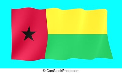 Guinea-Bissauan-flag . Waving - Flag animation for using in...