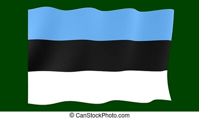 Estonian flag . Waving - Flag animation for using in foto's...