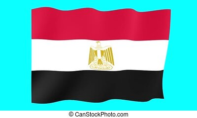 Egyptian flag . Waving - Flag animation Useful for editors....