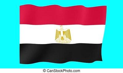 Egyptian flag . Waving - Flag animation Useful for editors....