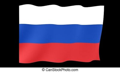 Russian flag. Waving - Flag animation for using in foto's en...