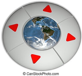 Navigate Earth Future Direction Environment Buttons