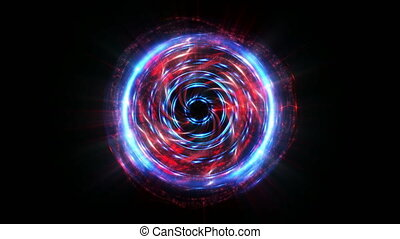 Red abstract beautiful motion sphere background - Red and...