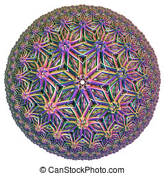 colored hyperbolic tessellation computer generated