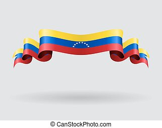 Venezuelan wavy flag illustration. - Venezuelan flag wavy...