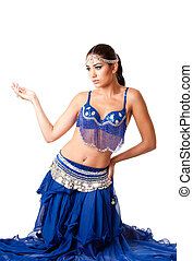 Fashion Belly dancer sitting on knees - Beautiful Israeli...