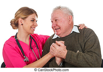 We care about our patients - Picture of a caring phyisician...