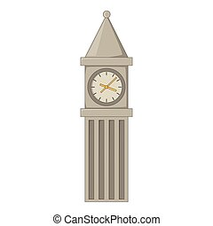Big Ben in London icon, cartoon style - Big Ben in London...