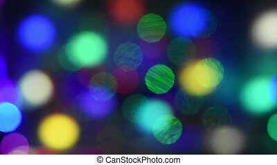 Abstract background of moving colored glowing circles