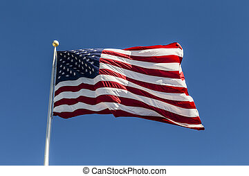United States of America Flag under blue sky