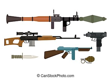 Weapons vector collection.