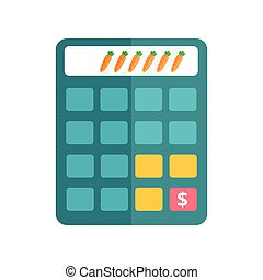 Business calculator technology vector icon. - Mathematics...