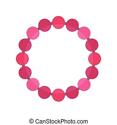 Pearl necklace decoration vector. - Pearl necklace...