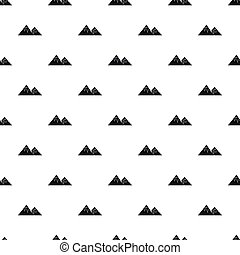 Winter mountains pattern, simple style
