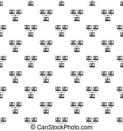 LAN pattern, simple style - LAN pattern. Simple illustration...