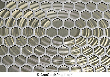 Aluminum grating - The aluminum grating on the background of...