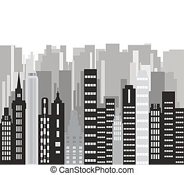 Building background vector - The city.Building...