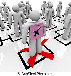 Pink Slip - Organizational Chart - An employee gets a pink...