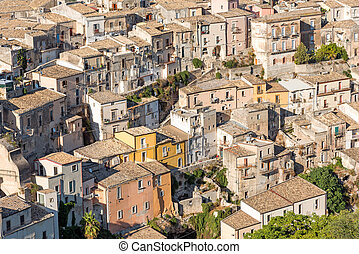 Detail of the city of Ragusa Ibla in Sicily, Italy